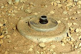 landmine buried