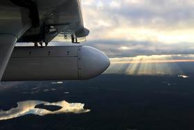 Airborne EM sensing pods